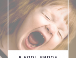 Screaming Toddler with Title
